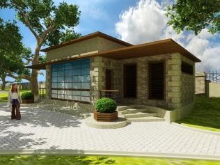 ( LDL_006 ) Afrikada Siere Lione şəhərində Victoria parkının landşaftının vizualizassiyası