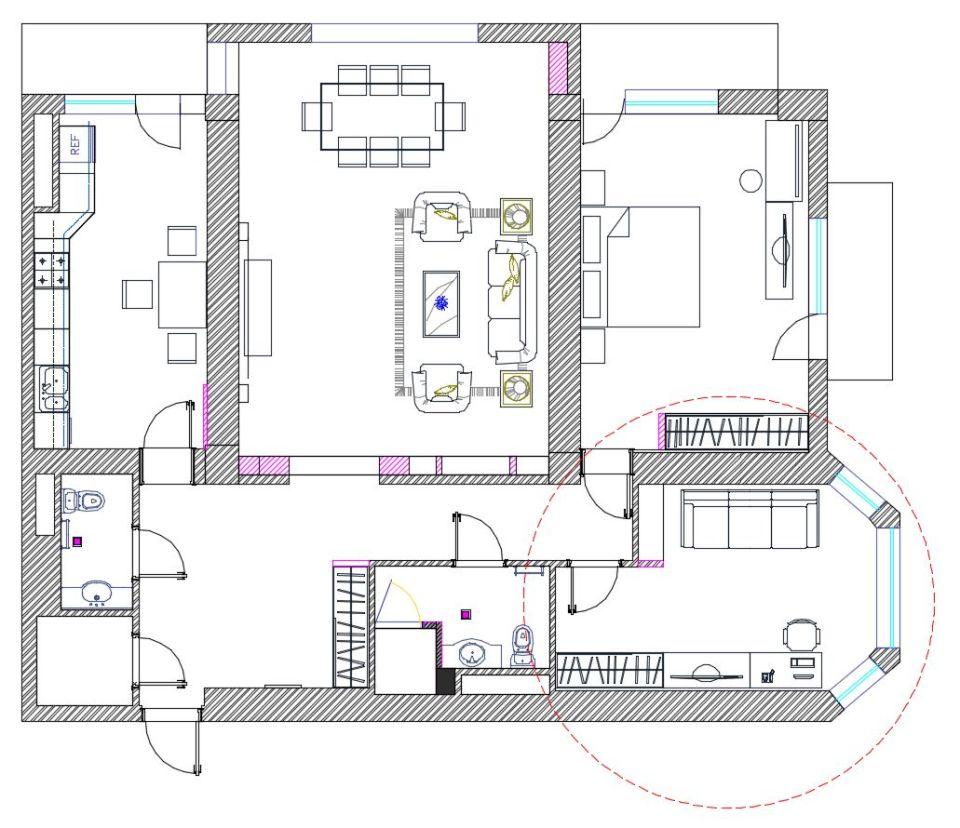 120m2 Interior Plan