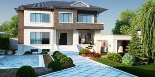 Novxanıda müasir üslublu villa ( EDV_M1_1_2015 )