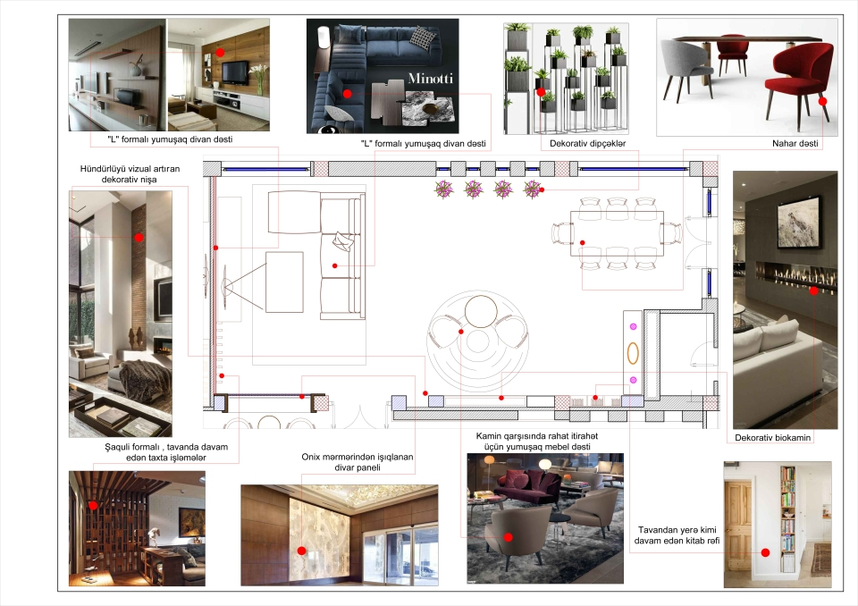Life centre  living room plan