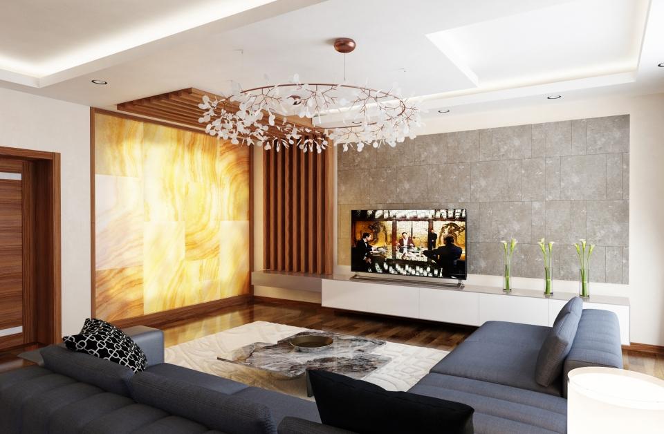 Life centre Baku apartments living room 4